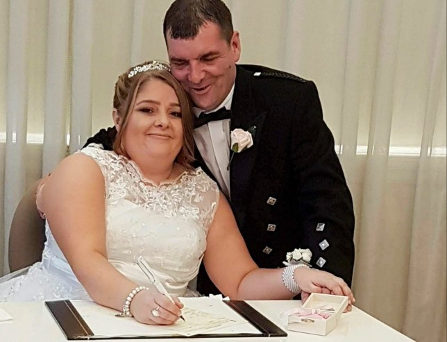 Susie Bryce chose to donate her £90 wedding dress to Cherished Gowns, a charity that turns gowns into clothing for stillborn babies