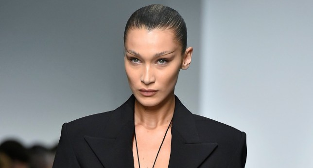 Bella Hadid Knows She S On Fire As She Rocks Chaps At Mugler