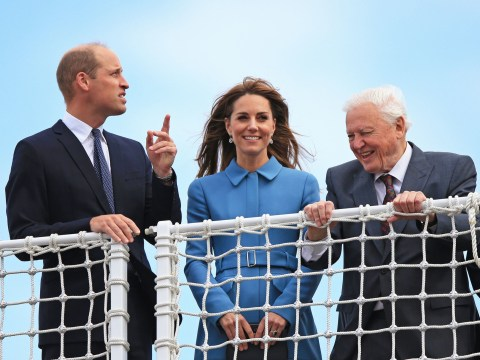 William and Kate join David Attenborough for launch of not Boaty McBoatface
