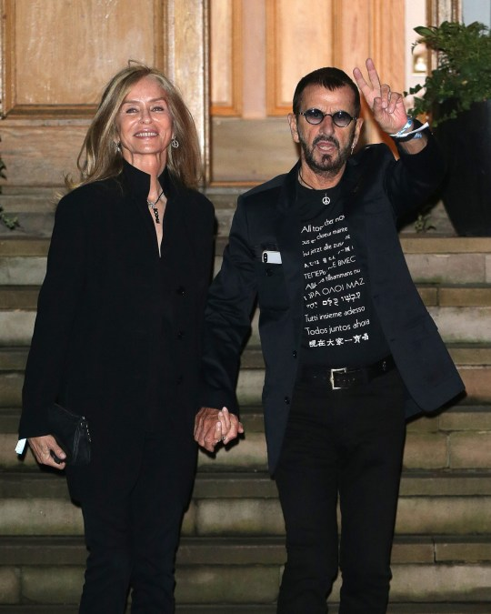 LONDON, ENGLAND - SEPTEMBER 26: Barbara Bach and Sir Ringo Starr seen attending Apple Corps - Abbey Road 50th anniversary party on September 26, 2019 in London, England. (Photo by Ricky Vigil M/GC Images)