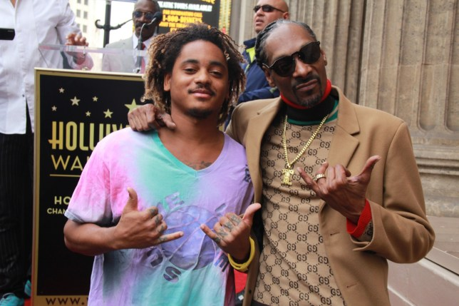November 18, 2018 - Hollywood, California, U.S. - I16019CHW.Hollywood Chamber Of Commerce Honors SNOOP DOGG With Star On The Hollywood Walk Of Fame .6840 Hollywood Boulevard in front of Jimmy Kimmel Live, Hollywood, California, USA .11/19/2018 .SNOOP DOGG AND SON CORDE BROADUS .??Clinton H.Wallace/Photomundo International/ Photos Inc (Credit Image: ? Clinton Wallace/Globe Photos via ZUMA Wire)