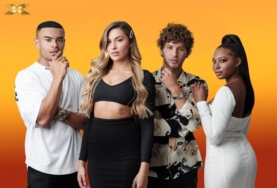 Celebrity X Factor contestants revealed The Islanders : Eyal, Wes, Samira and Zara