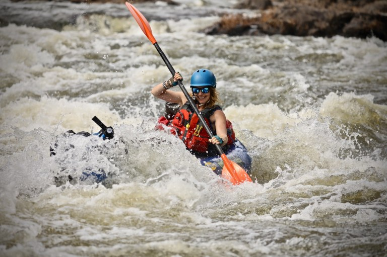 Philippa kayaking