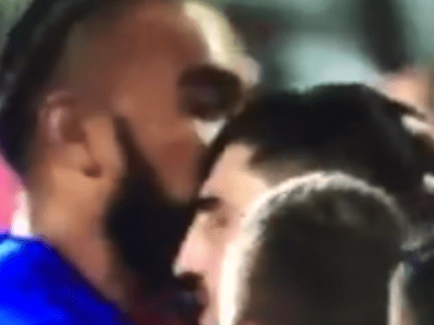 Senio Toleafoa calms fury of Russian opponent with a kiss during bad-tempered World Cup clash