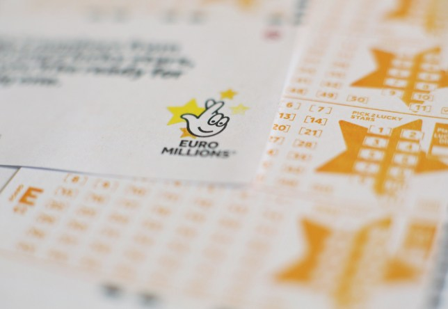 A pile of EuroMillions tickets