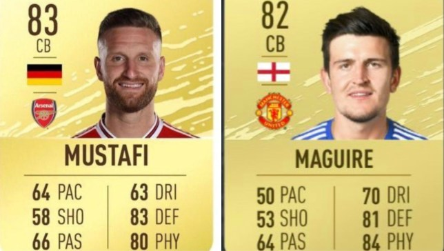 Man Utd fans are livid that Arsenal's Shkodran Mustafi is rated higher than Harry Maguire on FIFA 20