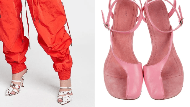 Big-toe heels are apparently a trend now