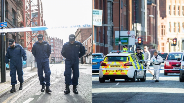 Audi 'driven at pedestrians' during mass brawl in Manchester