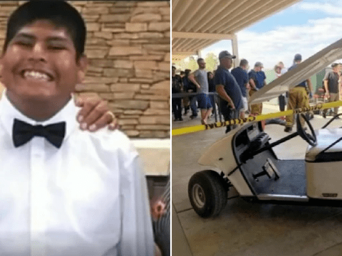Disabled boy died after crashing golf cart at school