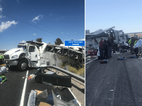 At least four killed in tour bus crash near national park