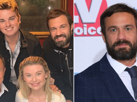 Jamie Lomas all smiles after brawl with Emmerdale's Asan N'Jie as he reunites with I'm A Celebrity pals