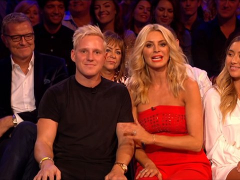 Jamie Laing sits front row on Strictly Come Dancing weeks after foot injury