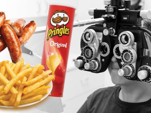 Teenager went blind after living off chips