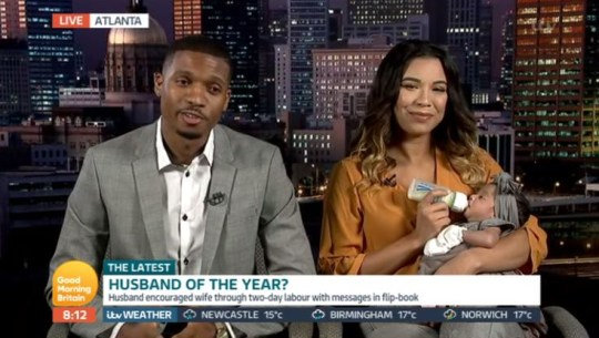 Kendall Caver on Good Morning Britain with wife Jasmine