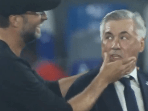 Carlo Ancelotti reassured Jurgen Klopp that Liverpool would probably win Champions League after Napoli win