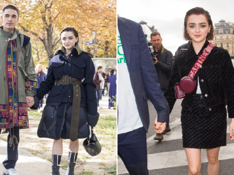 Maisie Williams and boyfriend Reuben Selby didn't come to play with their outfits at Paris Fashion Week