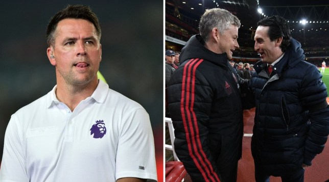 Michael Owen believes Manchester United's Premier League clash with Arsenal will finish in a scoring draw