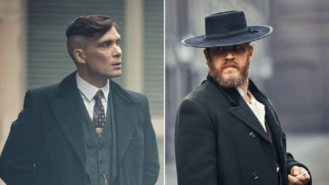 Alfie Solomons (Tom Hardy) and Tommy Shelby (Cillian Murphy)