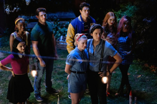 A picture of the cast of Riverdale, shown in the trailer for season 4 on netflix