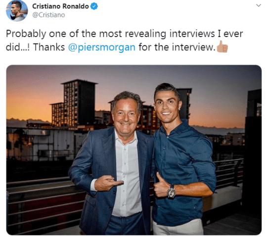 Ronaldo's tweet