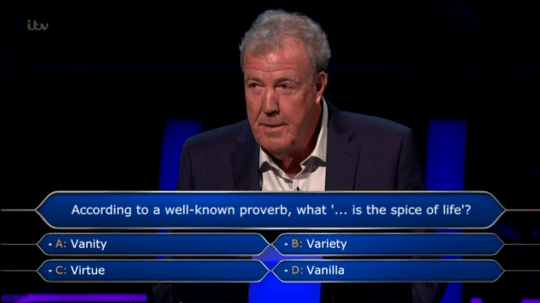 Who Wants To Be A Millionaire? contestant struggles on £100 question