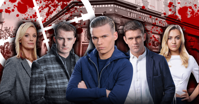 Who dies in EastEnders siege?