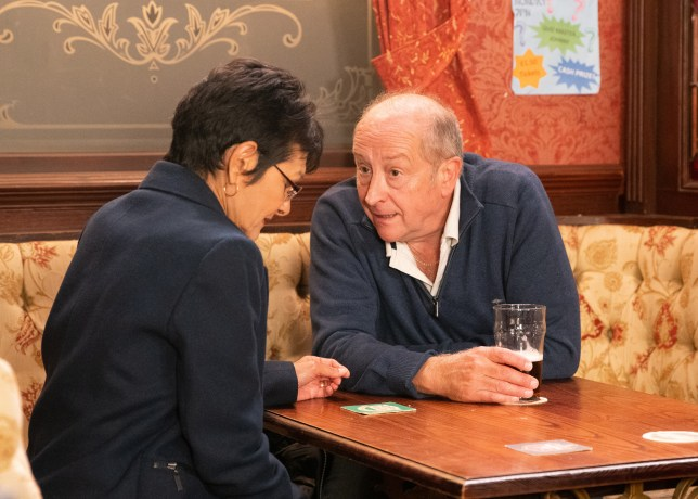 Geoff controls Yasmeen in Coronation Street