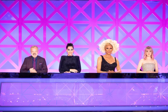 The judges of RuPaul's Drag Race UK