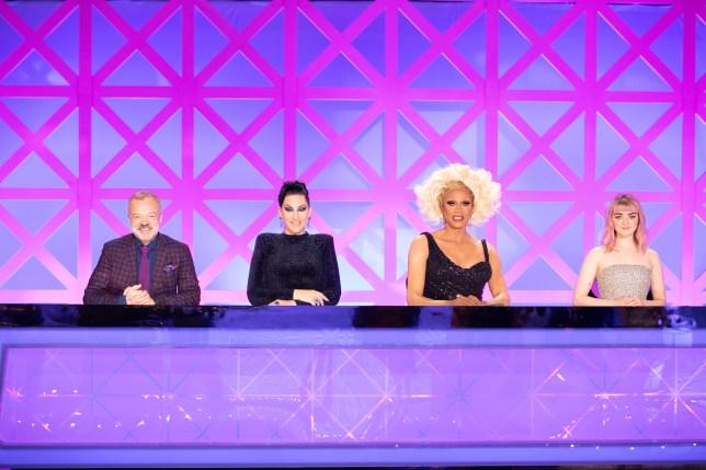 The judges of RuPaul's Drag Race UK