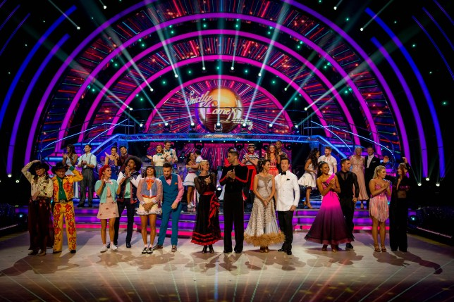 The cast of Strictly Come Dancing 2019 on the second show of the series