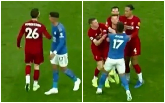 Footage showed Andy Robertson giving a sly elbow to Ayoze Perez after Liverpool's win over Leicester City