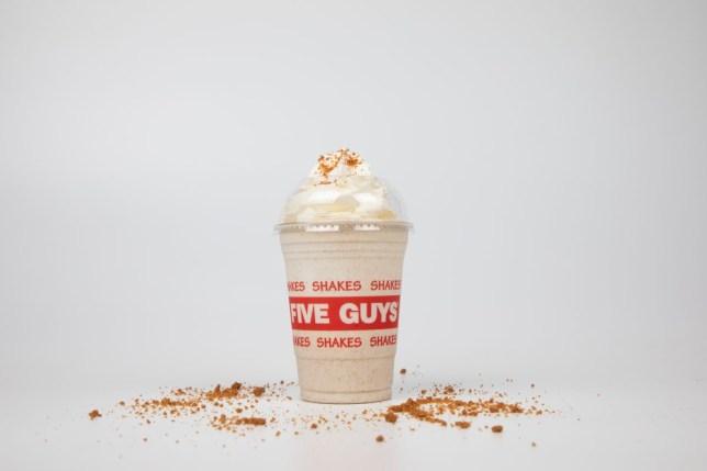 Five Guys launches new gingerbread milkshake for £4.75