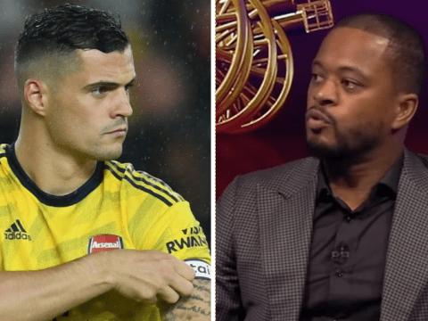 Granit Xhaka hits back at Patrice Evra's 'bulls***' after Arsenal's defeat at Sheffield United