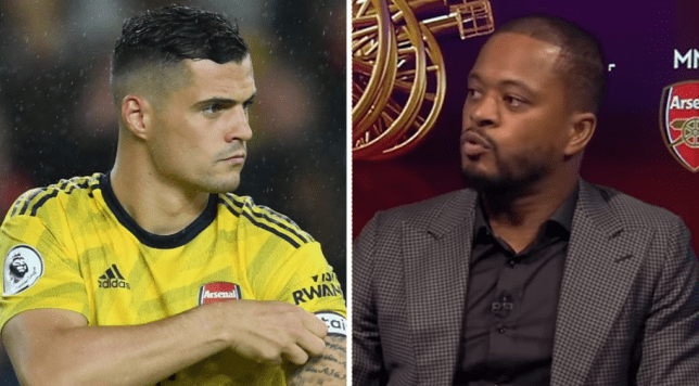 Granit Xhaka has hit back at Patrice Evra calling Arsenal 'babies' after their defeat to Sheffield United in the Premier League