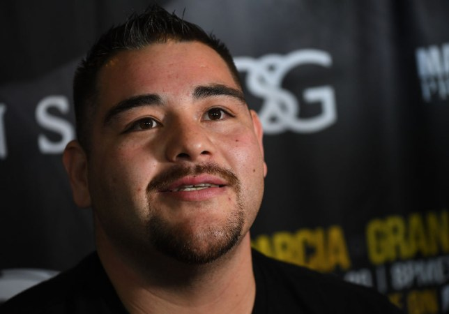 LOS ANGELES, CA - APRIL 04: Heavyweight Contender Andy Ruiz, Jr. answers questions during a media day workout for his upcoming fight against Alexander Dimitrenko, at Fortune Gym on April 4, 2019 in Los Angeles, California. (Photo by Jayne Kamin-Oncea/Getty Images)
