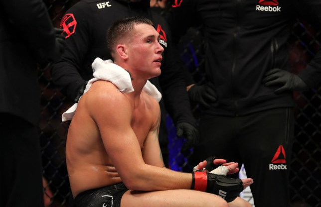 Darren Till sits dejected after losing his fight to Jorge Masvidal