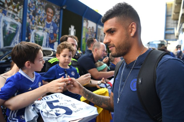 Emerson Palmieri has returned to training ahead of Chelsea's Premier League clash with Newcastle following a thigh injury