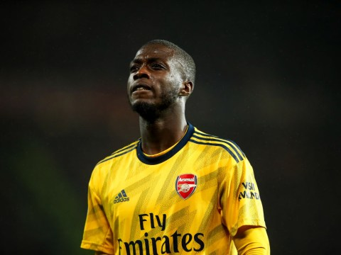 Nicolas Pepe admits he is lacking confidence after flopping against Manchester United