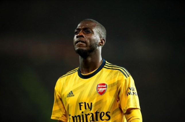 Nicolas Pepe endured a difficult evening against Manchester United