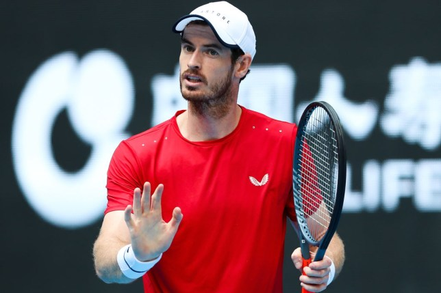 Andy Murray reacts during his straight sets win against Matteo Berrettini at the China Open