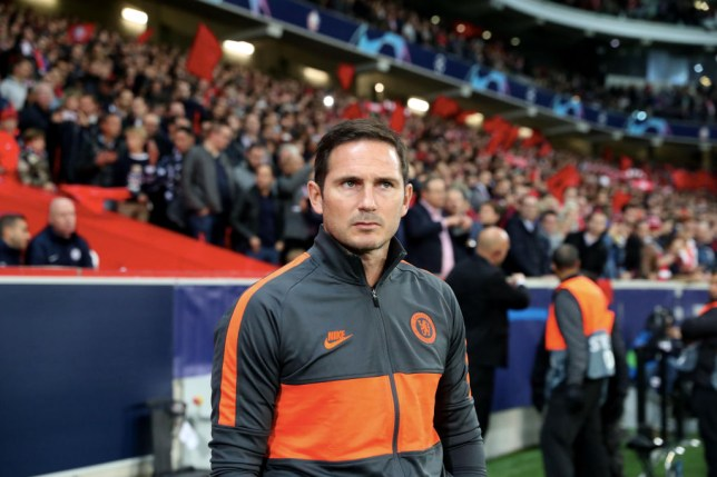 Frank Lampard looks on during Chelsea's Champions League win against Lille