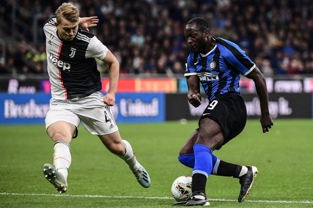 Matthijs de Ligt struggled with Man Utd reject Romelu Lukaku's pace and power in the first half