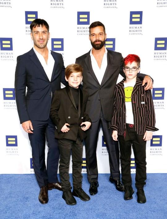 Ricky Martin family