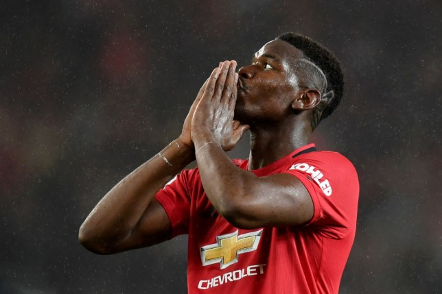 Paul Pogba reacts after Manchester United's draw with Arsenal at Old Trafford