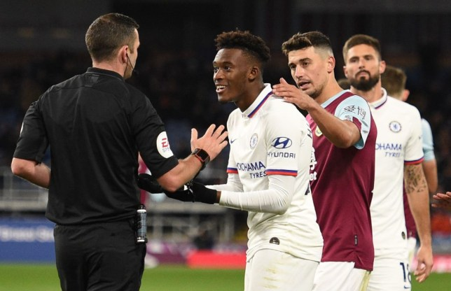 Chelsea's Callum Hudson-Odoi was booked for diving against Burnley on Saturday (Picture: Getty)