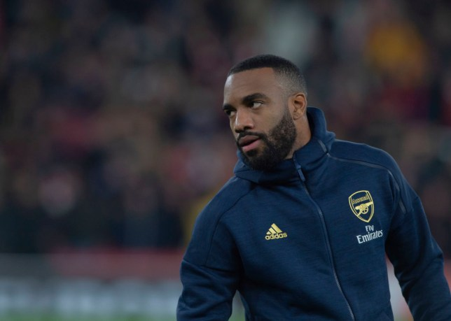 Alexandre Lacazette has 'liked' an Instagram post telling Unai Emery to leave Arsenal