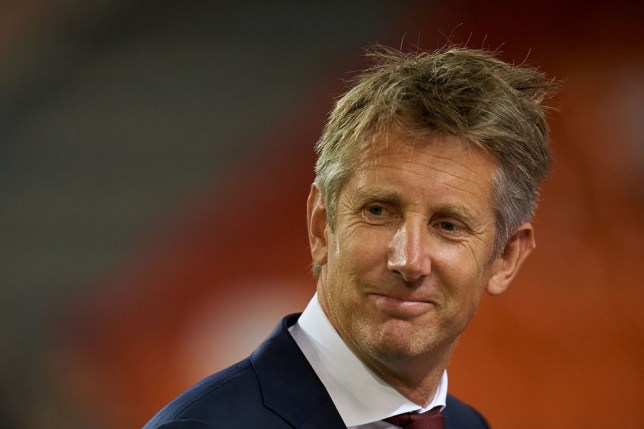VALENCIA, SPAIN - OCTOBER 02: Former Ajax goalkeeper Edwin van der Sar looks on prior to the UEFA Champions League group H match between Valencia CF and AFC Ajax at Estadio Mestalla on October 2, 2019 in Valencia, Spain. (Photo by David Aliaga/MB Media/Getty Images)