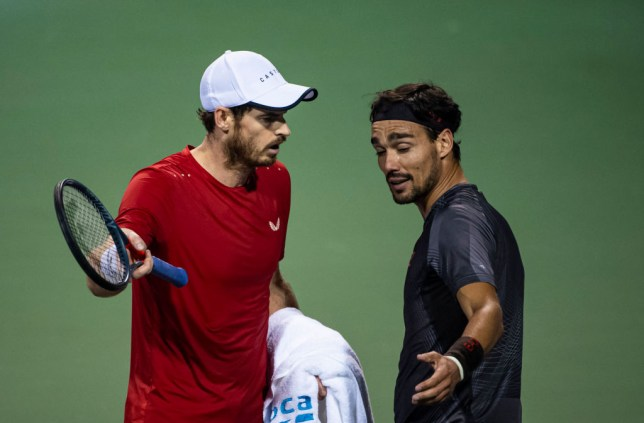 Andy Murray and Fabio Fognini kept fighting in locker room after heated on-court row