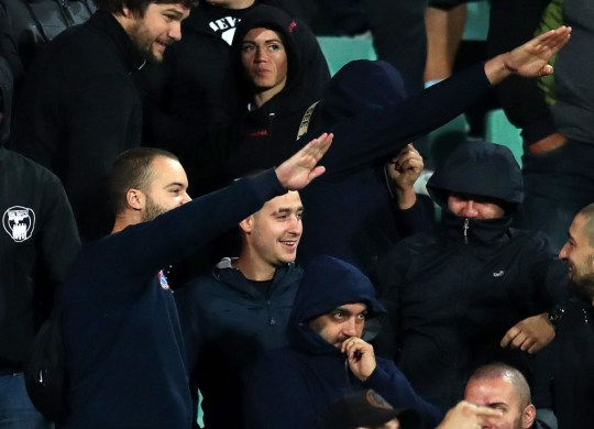 Bulgaria fans were twice warned over racist chanting
