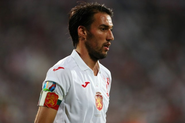 Ivelin Popov during Bulgaria's game against England